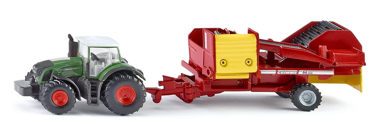 Siku  1808 Traktor mit Kartoffelroder****